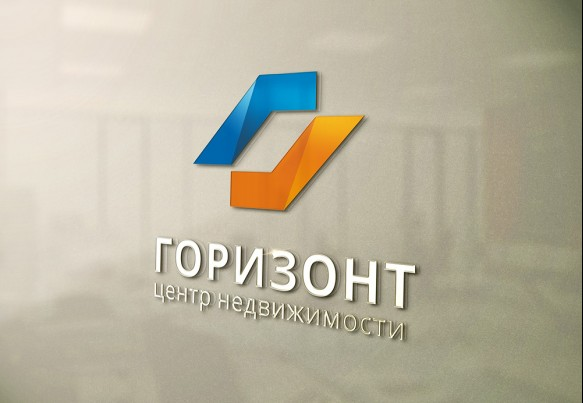 Разработка логотипа «Горизонт-недвижимость»